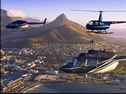 Helicopter rides over Table Mountain