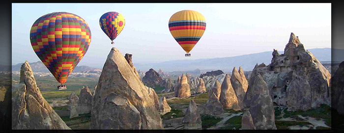 Hot Air Ballooning over the spectacular Fairy Chimneys