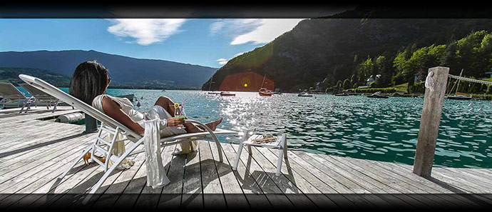 Enjoy great views at Lake Annecy
