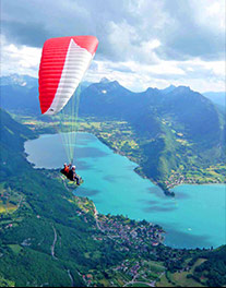 Fantastic views whilst Paragliding