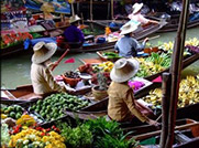 Enjoy a trip along the river to explore the Markets