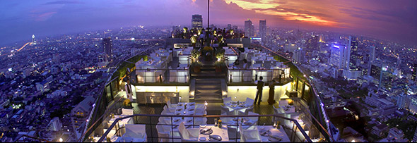 Dazzling alfresco rooftop dining at the Vertigo Bar